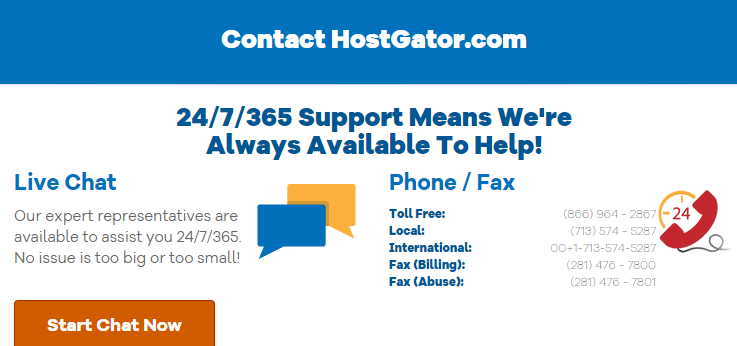 HostGator Phone Number